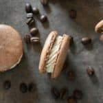 easy chocolate espresso macaron | This easy chocolate espresso macaron recipe is so delicious and unique. The rich flavors of chocolate with the mix of espresso just melts in your mouth. This is by far my favorite macaron flavor (so far). |