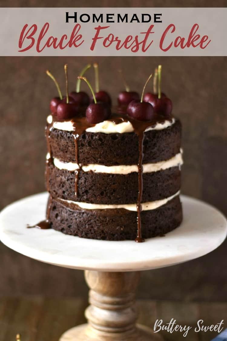 Homemade Black Forest Cake Recipe