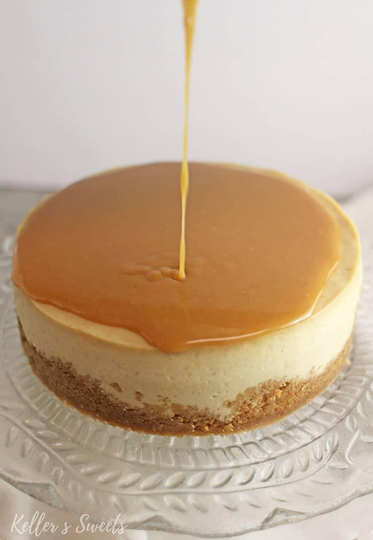 Adding peanut butter ganache to Instant Pot Nutter Butter Cheesecake
