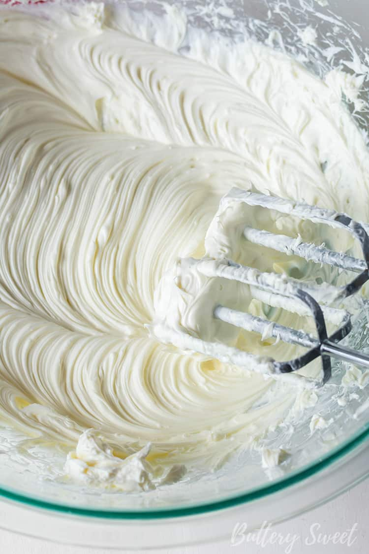 creaming cream cheese for Instant Pot Praline Cheesecake batter